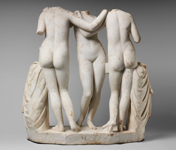 Three Graces, Marble, MET DP222665, Aglaia