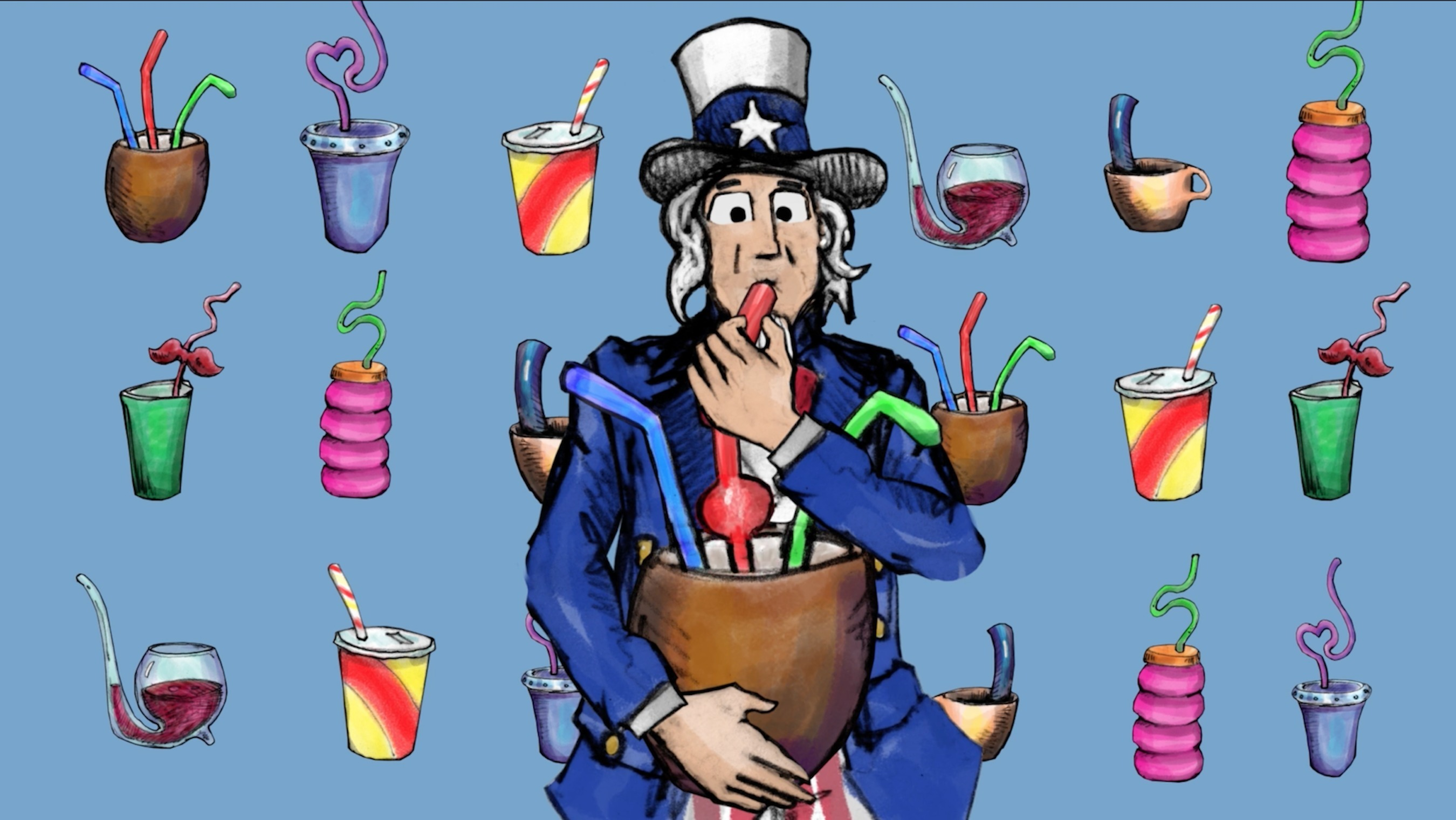 2700x1521 Uncle Sam, Stills, in Straws, by John S. Quarterman, for WWALS.net, 26 May 2018