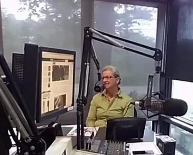 635x512 Gretchen, Before, in Gretchen Quarterman of WWALS on Steve Nichols radio 105.9 FM, by John S. Quarterman, for WWALS.net, 29 May 2018