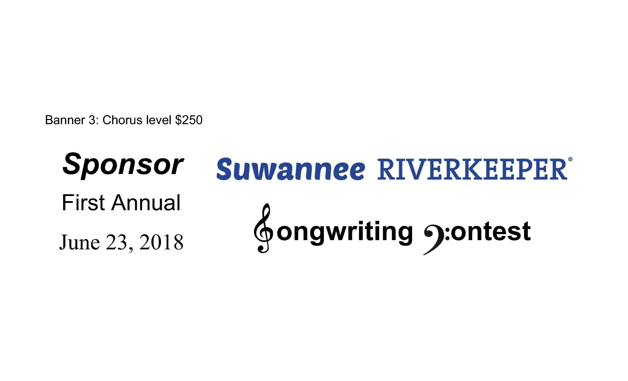 2100x1275 Chorus level  sponsor, Sponsor Banners, in Suwannee Riverkeeper Songwriting Contest, by John S. Quarterman, for WWALS.net, 29 March 2018