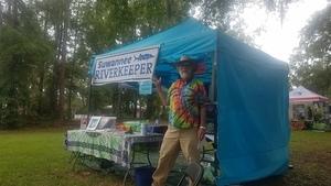 300x169 Suwannee Riverkeeper, Tent, in Florida Folk Festival Saturday, by John S. Quarterman, for WWALS.net, 26 May 2018
