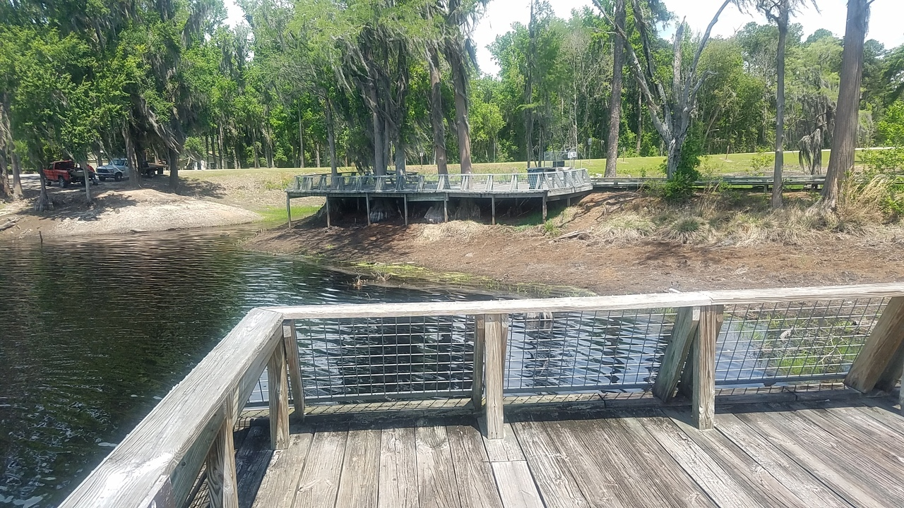 1280x720 Picnic area, Boardwalk, in Banks Lake Refilling, by John S. Quarterman, for WWALS.net, 26 April 2018