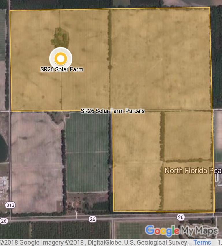 769x851 Area, Maps, in SR26 Solar Farm, Trenton, Gilchrist County, Florida, by John S. Quarterman, for WWALS.net, 4 June 2018