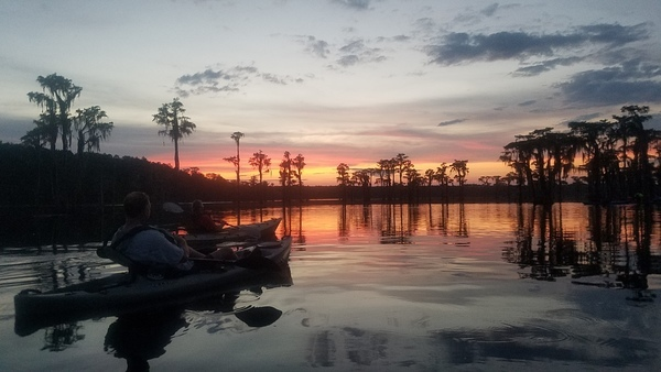 Sunset, On the water