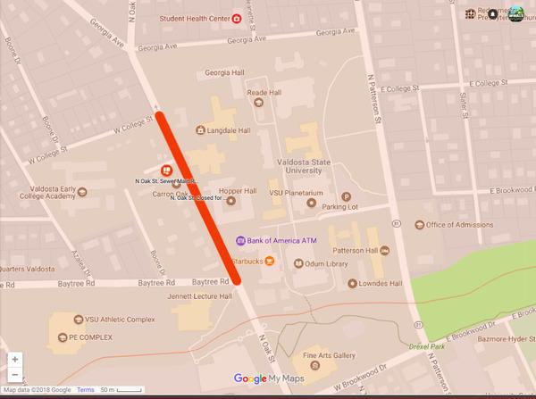 Valdosta State University, Maps