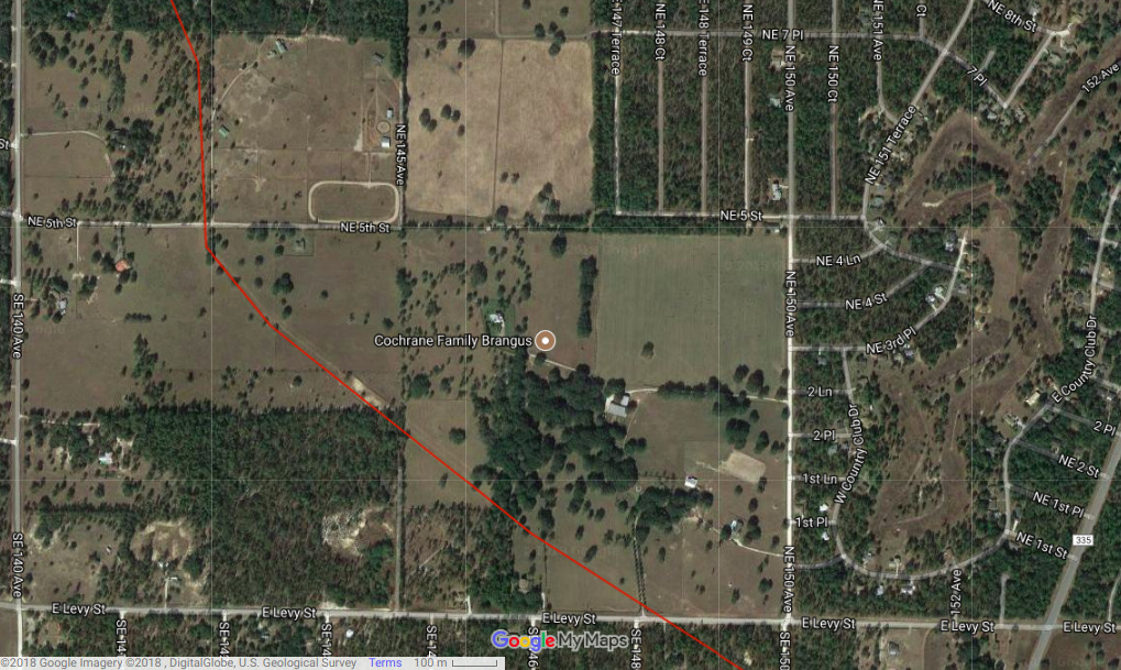 1019x609 WWALS Digitized Pipeline Path, Google Maps, Maps, in Cattle ranch overrun by Sabal Trail pipeline, by John S. Quarterman, for WWALS.net, 16 July 2018