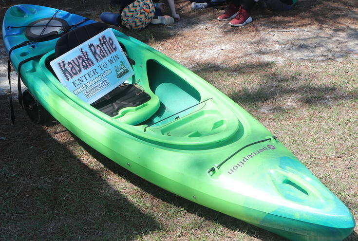 735x495 Raffle Kayak, Wheels, in Raffle Kayak at BIG Little River Paddle Race, by Phil Hubbard, for WWALS.net, 8 July 2018