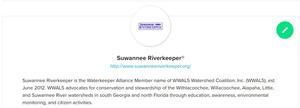 300x108 Suwannee Riverkeeper group, Water Reporter, in Tifton water quality data, by John S. Quarterman, for WWALS.net, 21 August 2018