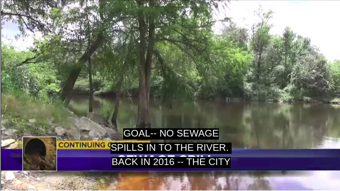 668x375 Goal: no sewage spills into the river, Screenshots, in Madison County meeting about Valdosta sewage, plus Tom Potter of WWALS, by WCTV, for WWALS.net, 21 August 2018