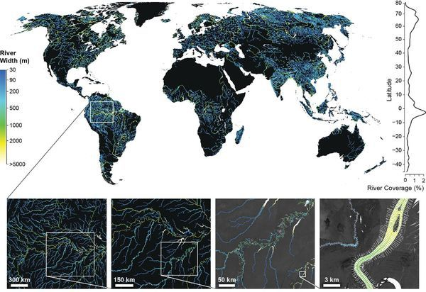 Fig. 1. Global River Widths from Landsat (GRWL) Database, Figure