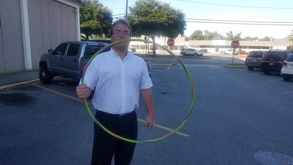 Jeb Bell with 32 hoop (smaller than Sabal Trail), Defendants