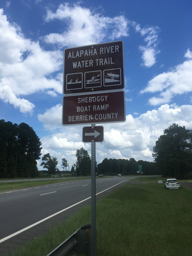 756x1008 Sheboggy Boat Ramp, Signs, in WWALS Cleanup at Sheboggy Boat Ramp, US 82, Alapaha River, by Gretchen Quarterman, for WWALS.net, 9 September 2018