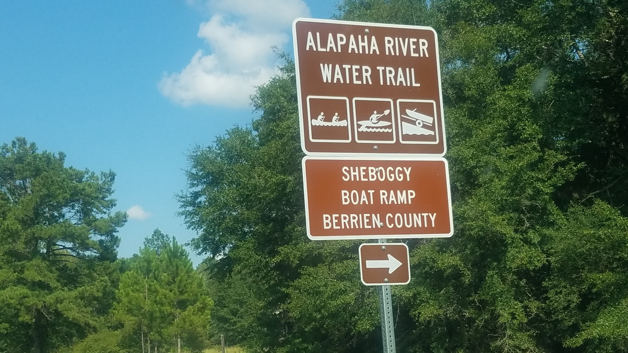 2560x1440 Context, Right sign, in Sheboggy Boat Ramp, by John S. Quarterman, for WWALS.net, 11 August 2018