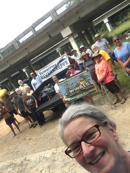 450x600 Gretchen the photographer, Banner, in WWALS Cleanup at Sheboggy Boat Ramp, US 82, Alapaha River, by Gretchen Quarterman, for WWALS.net, 9 September 2018