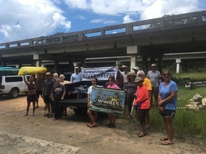 300x225 With bridge, Banner, in WWALS Cleanup at Sheboggy Boat Ramp, US 82, Alapaha River, by Gretchen Quarterman, for WWALS.net, 9 September 2018