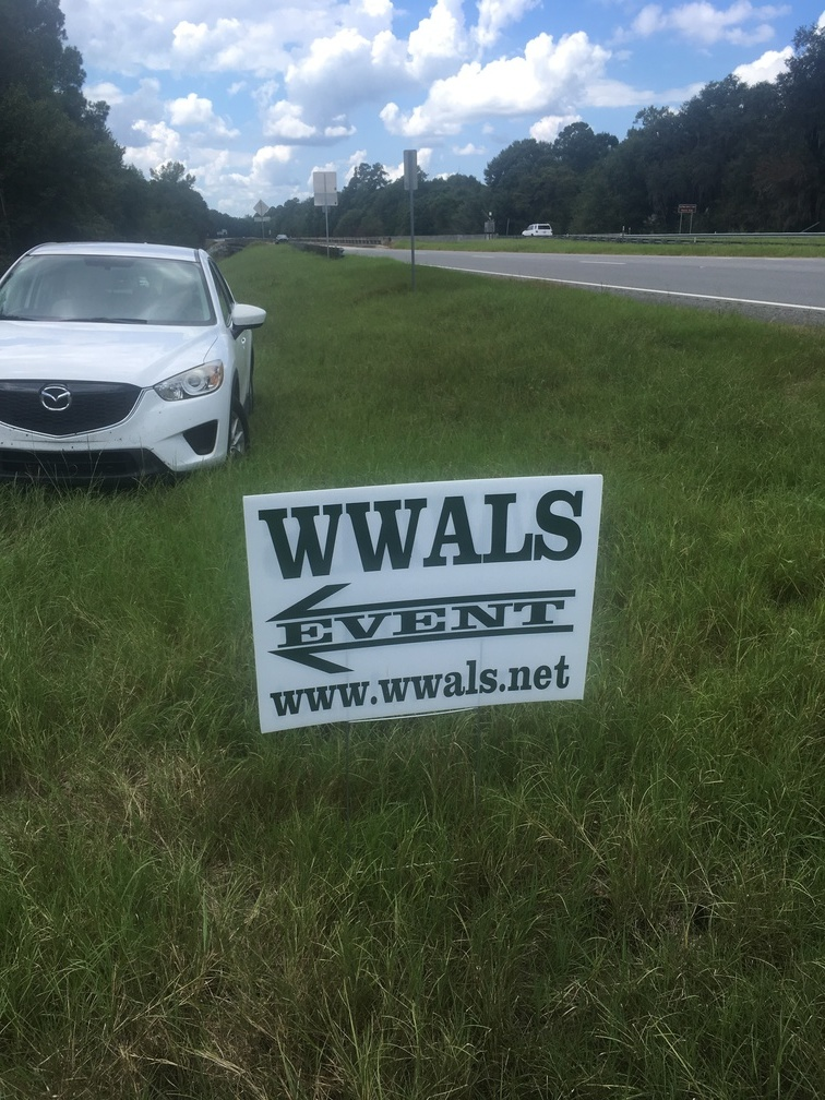 756x1008 WWALS Event, Signs, in WWALS Cleanup at Sheboggy Boat Ramp, US 82, Alapaha River, by Gretchen Quarterman, for WWALS.net, 9 September 2018