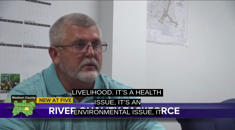 804x447 Health, environmental, econommic, tourism issue, Madison County, in WCTV at Hagan Bridge on Florida taskforce about Withlacoochee sewage spills, by WCTV, for WWALS.net, 2 October 2018
