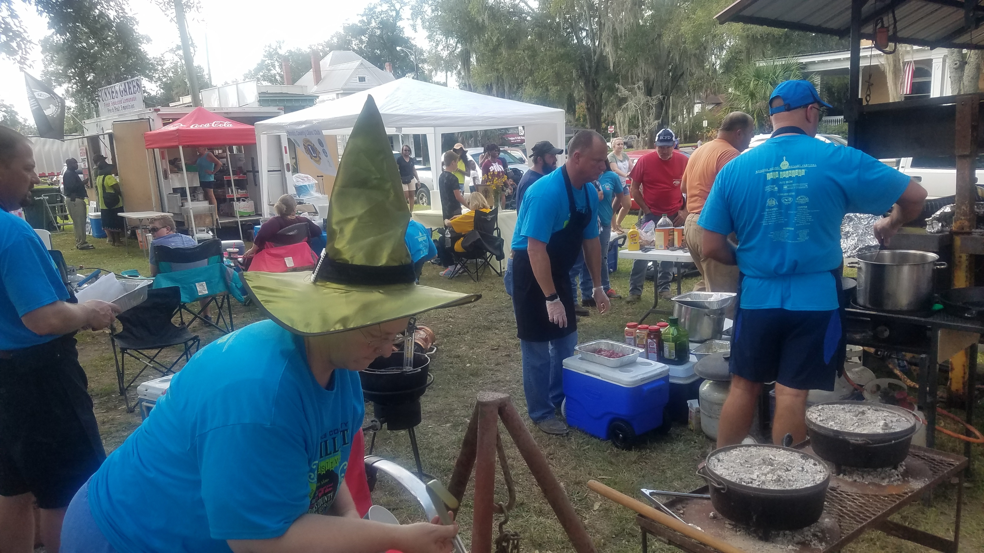 4032x2268 Horton clan cooking, Festival, in Pictures: Brooks County Skillet Festival, by John S. Quarterman, for WWALS.net, 20 October 2018
