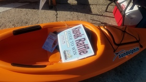 Raffle sign, Kayak