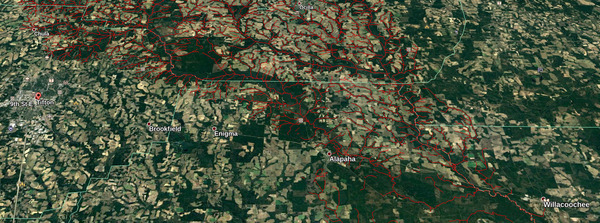 Tift County to Willacoochee, Alapaha River