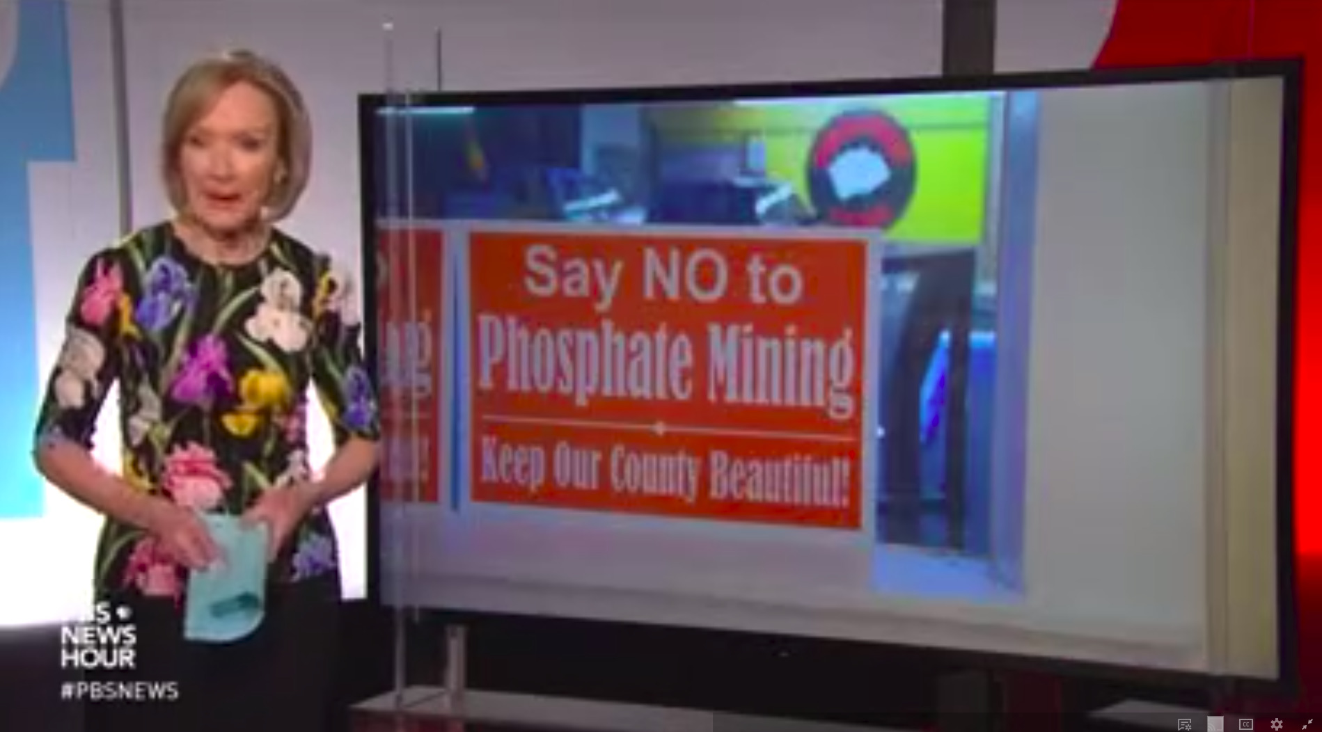 1899x1052 No-phosphate-mining, Union County, in PBS airs part of Alan Toth's Phosphate Mining Movie, by PBS, for WWALS.net, 31 October 2018