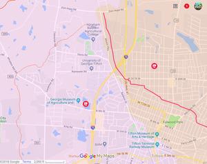 300x238 Tifton, City Maps, in Tifton * 3, Quitman, Valdosta * 6, by John S. Quarterman, for WWALS.net, 22 December 2018