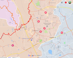300x238 Valdosta, City Maps, in Tifton * 3, Quitman, Valdosta * 6, by John S. Quarterman, for WWALS.net, 22 December 2018