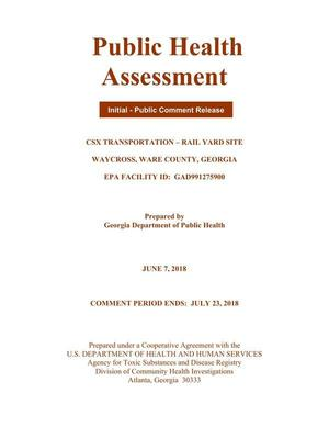 300x389 Cover, Pages, in Public Health Assessment of Rice Rail Yard, Waycross, GA, by John S. Quarterman, for WWALS.net, 7 June 2018