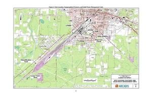 300x194 Figure I: Site Location, Topographical Features, and Solid Waste Management Units, Pages, in Public Health Assessment of Rice Rail Yard, Waycross, GA, by John S. Quarterman, for WWALS.net, 7 June 2018