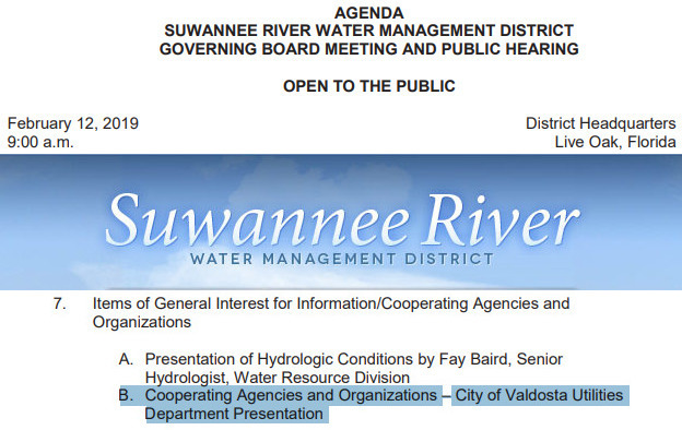 624x394 7.B. Valdosta Utilities, Packet, in Valdosta wastewater at Suwannee River Water Management Board Meeting, by John S. Quarterman, for WWALS.net, 12 February 2019