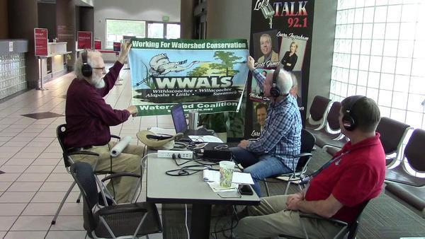 WWALS banner, Suwannee Riverkeeper John S. Quarterman on Scott James radio show