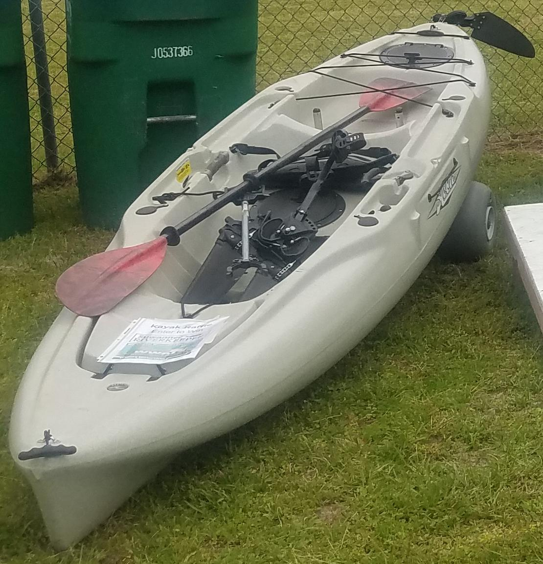 1110x1153 With rudder, Raffle Kayak, in Pictures: Wild Azalea Festival, White Springs, FL, by John S. Quarterman, for WWALS.net, 16 March 2019