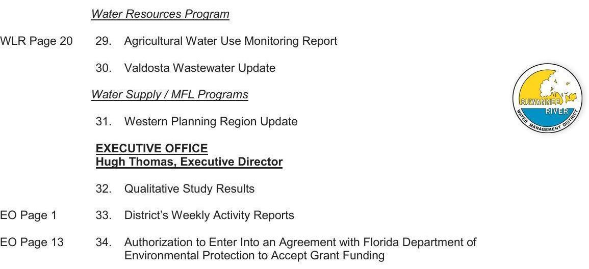 1155x528 Water Ressource Program & E.D., Agenda, in SRWMD Agenda, by John S. Quarterman, for WWALS.net, 14 May 2019