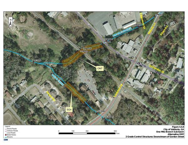 Map: Gordon Street, Lankford Drive, Sugar Creek