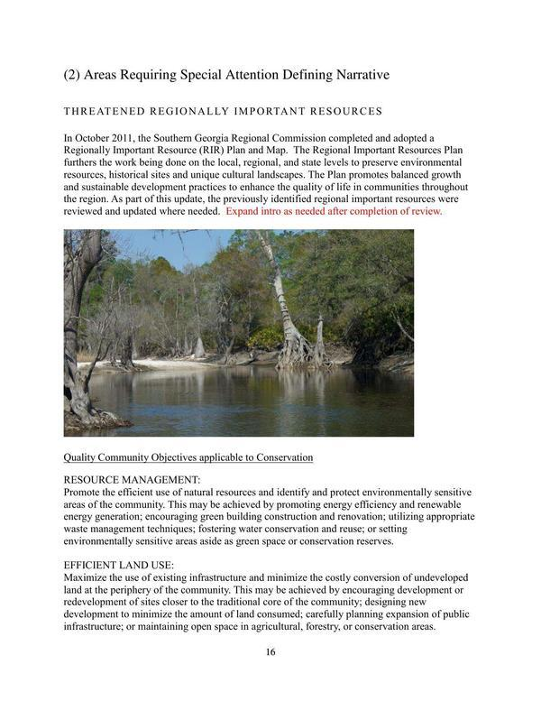 Page 16: River picture as example of Areas Requiring Special Attention