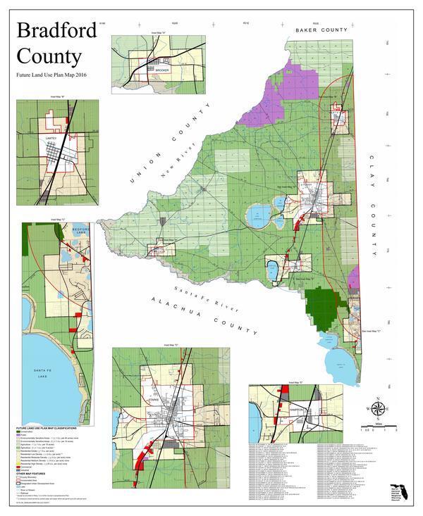 Bradford County Future Land Use Plan Map 2016