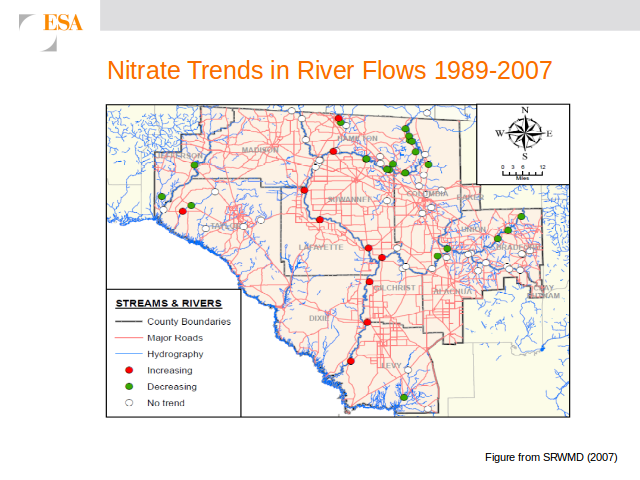 Nitrate Trends in River Flows 1989-2007