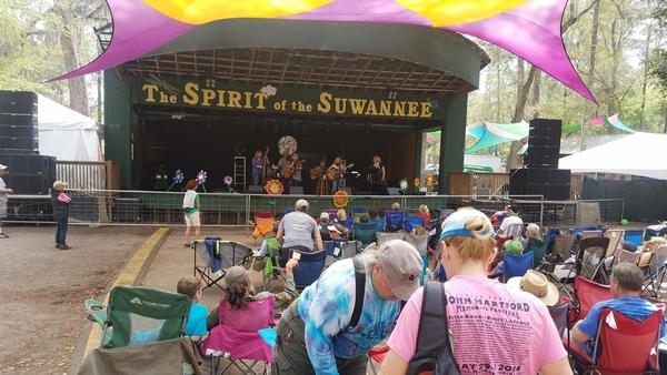 Spirit of the Suwannee, Stages
