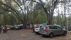 Camping at the lake,