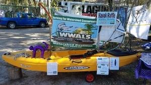 Purple kayak cat, WWALS booth