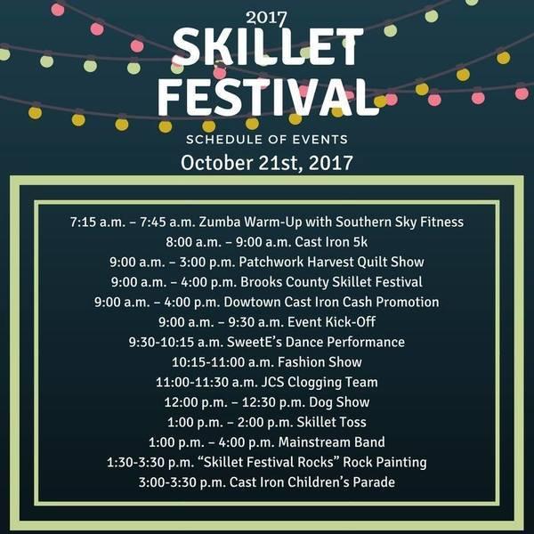 Schedule, Festival