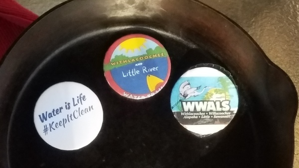 WWALS buttons on skillet, Festival