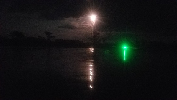 Moon and boat light