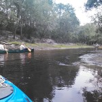 1600x1200 Bret W. and Dave H. in shoals, in Alapaha River Outing, by John S. Quarterman, for WWALS.net, 24 August 2014