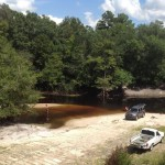 808x720 Fishing at Berrien Beach., in Berrien Beach at GA 168 on the Alapaha River, by Bret Wagenhorst, for WWALS.net, 14 September 2014