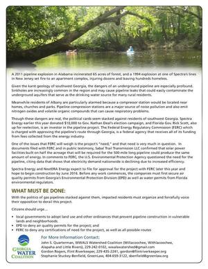 300x388 DD#9 2014 Page 2 of 2, in GWC DD#9: Sabal Trail pipeline threatens Withlacoochee River and Floridan Aquifer, by Georgia Water Coalition, for WWALS.net, 22 October 2014