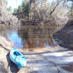 4288x3216 Blue and orange kayaks, in Alapaha River at Statenville, January 2014 WWALS Outing, by Gretchen Quarterman, 18 January 2014