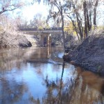 2048x1536 Bridge downstream, in Alapaha River at Statenville, January 2014 WWALS Outing, by Gretchen Quarterman, 18 January 2014