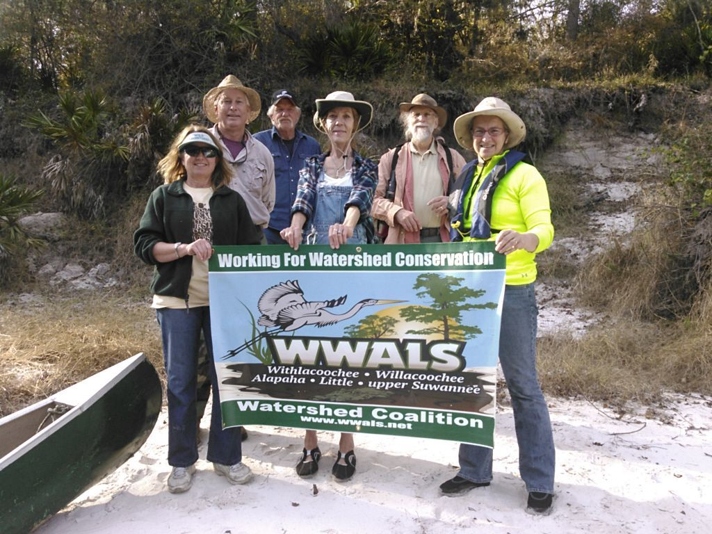 1024x768 WWALS banner 30.4073257, -83.1565399, in WWALS Field Trip to proposed Sabal Trail Suwannee River Crossing, by John S. Quarterman, for WWALS.net, 15 November 2015
