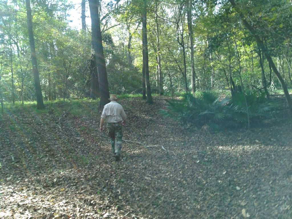 1024x768 Chris leading 30.4073524, -83.1575317, in WWALS Field Trip to proposed Sabal Trail Suwannee River Crossing, by John S. Quarterman, for WWALS.net, 15 November 2015